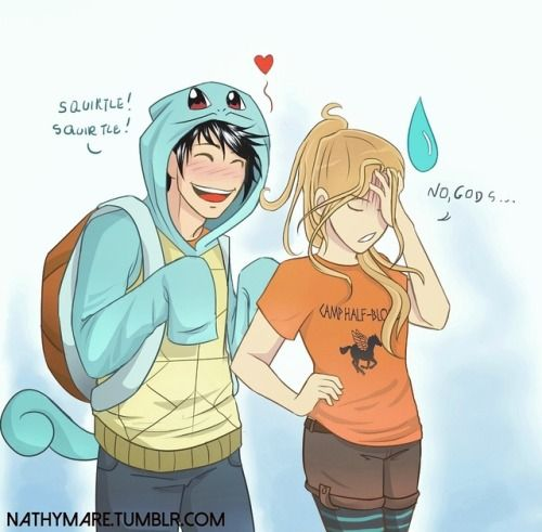 Percy and Annabeth and a lilltle bit of pokémon \ Percy Jackson and The Olympians
