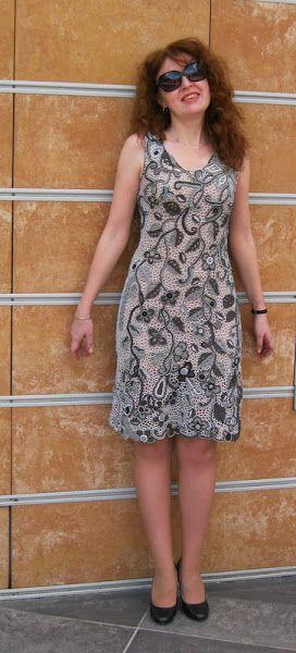 Вязание крючком. Фриформ. Ирландское кружево. Платье. Жакет. Туника. Цветное…
