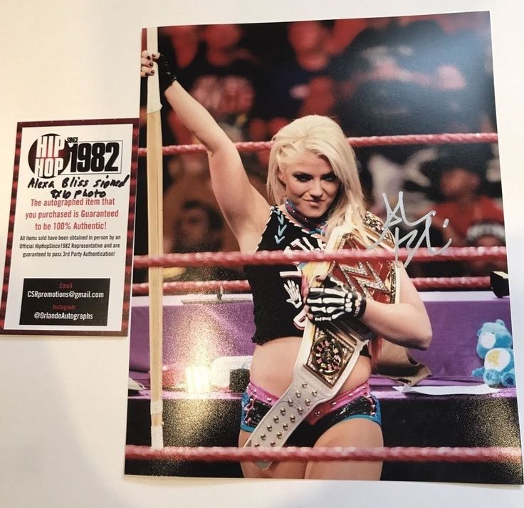 ALEXA BLISS signed 8x10 Photo WWE RAW Women Champion Belt Wrestling Divas 7 COA