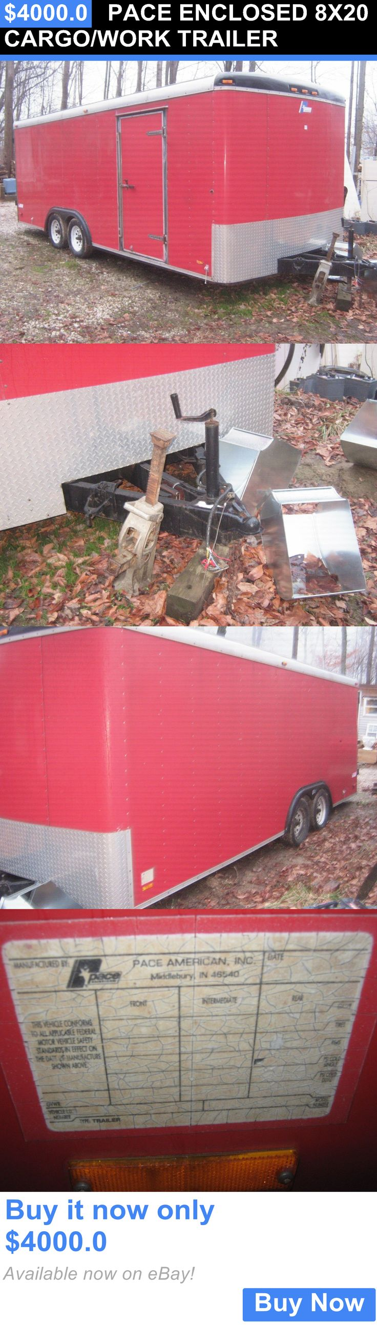 heavy equipment: Pace Enclosed 8X20 Cargo/Work Trailer BUY IT NOW ONLY: $4000.0