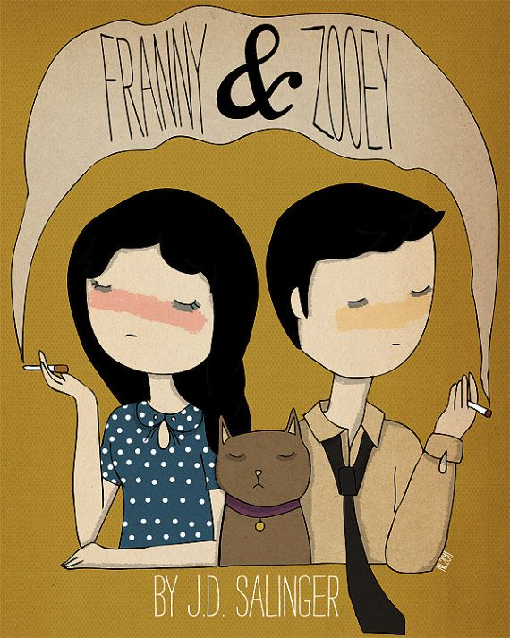 Franny und Zooey Illustration-Print von NanLawson auf Etsy