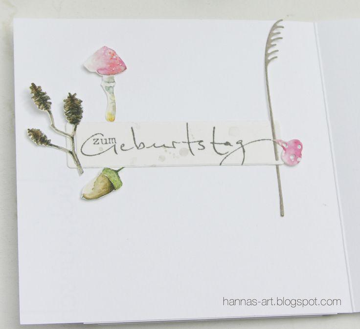 Hannas Art: Pilze zum Geburtstag