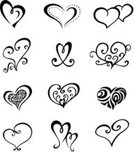 small heart tattoo ideas could print out and use for template to trace white chocolate cupcake toppers