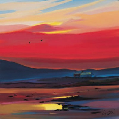 Settling For The Night Limited Edition - ART PRINT BY PAM CARTER, SCOTTISH ARTIST