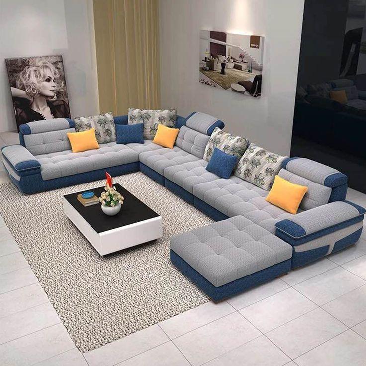 布艺沙发大小户型简约现代可拆洗布沙发客厅转角家具组合U型沙发-淘宝网
