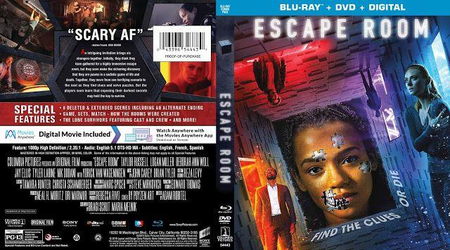 Escape Room Bluray Cover Blu Ray Escape Room Custom Dvd