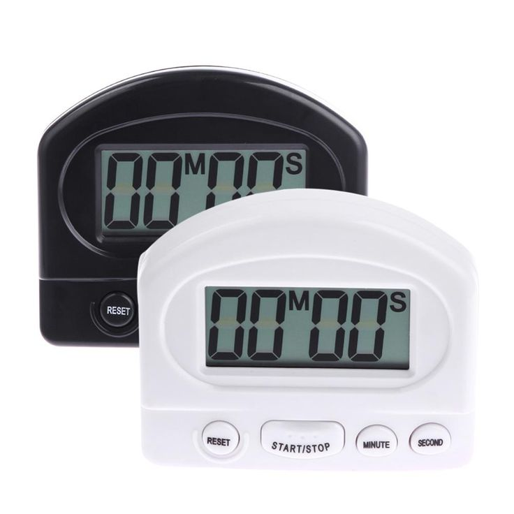 HOT New Large LCD Digital Kitchen Timer Count-Down Up Clock Loud Alarm Black White HXF A967