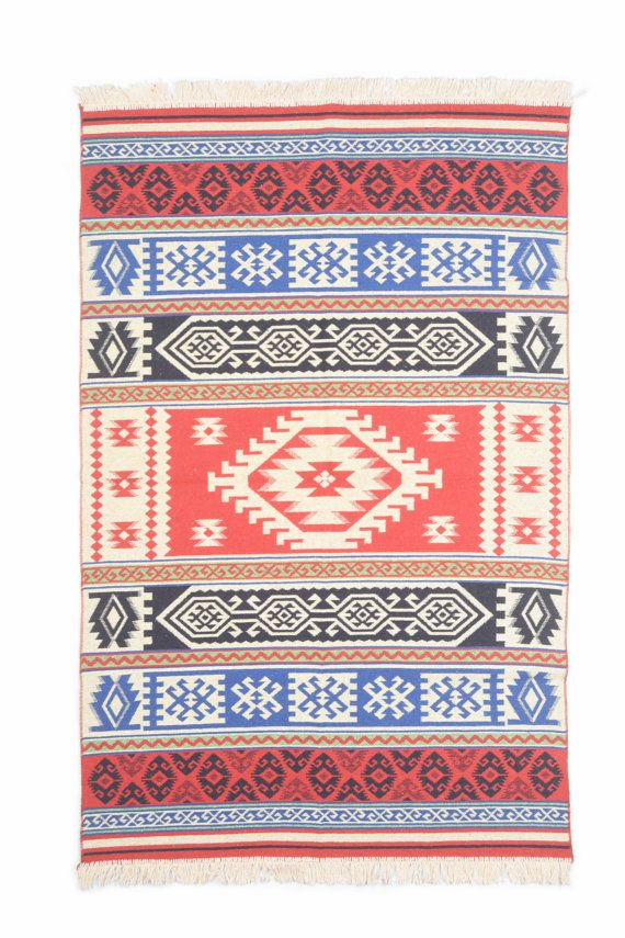 $106 Kilim rug - bed or living room, Southwestern rug, area rug 180x120cm