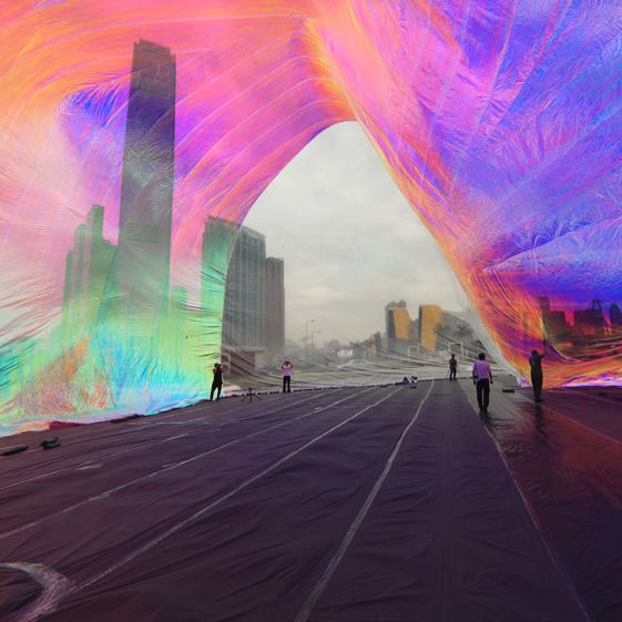 The Argentinian artist's diaphanous solar dome depends on certain climatic conditions, the thin foil membrane only rising when heated by a greenhouse-like effect and aided by a handful of participants – it brings a whole new meaning to temporary artworks and makes it all the more magical when in full flow...