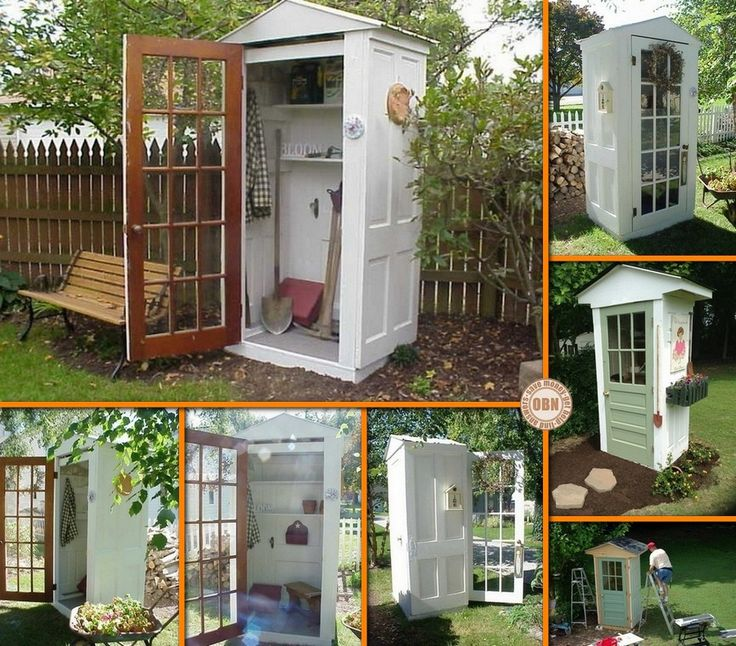 Need a shed for your garden tools? Then this project is for you! Learn how to build your own DIY garden shed from four repurposed doors, by viewing the full album of the project at http://theownerbuildernetwork.co/5ws9 Would you like one of these in your backyard?
