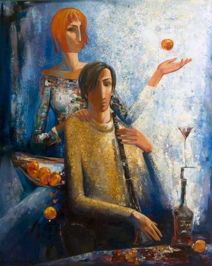 ARTFINDER: WINE AND ORANGE by SHANA DANILYANTS -