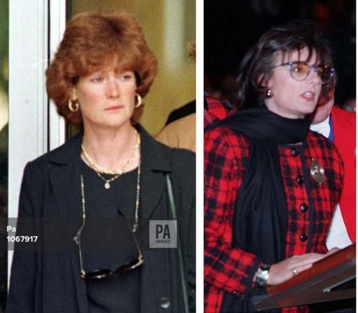 dec 3,1997--Library file dated 31/8/97 od Lady Sarah McCorquodale (left) and Library file dated 17.11.93 of Rosa Monckton. Chancellor Gordon Brown said today (Wednesday) that McCorquodale and Monckton are included in the newly-formed Diana, Princess of Wales Memorial Committee