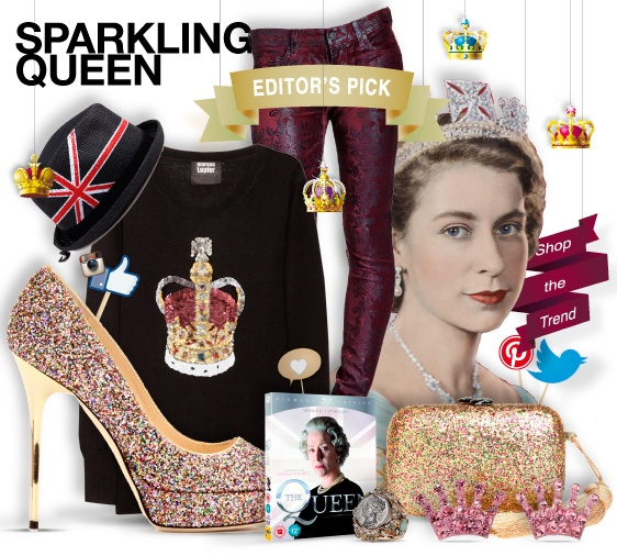 sparkling queen - editor's pick - shopthemagazine.com #glitter #queenstyle