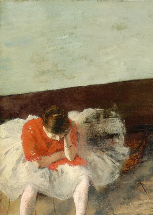 Edgar Degas, The Dance Lesson (detail), 1879. One of the most finest works I have seen in my life so far....its everything to me!