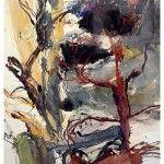 Denis Clarke - Wollombi Bush and Caves - Mixed Media 76cm x 56cm