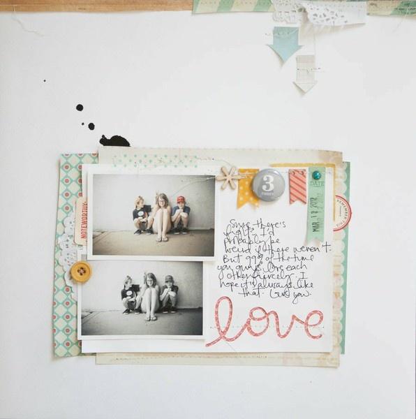 Love - by Marcy Penner: Scrapbook Ideas, Penner 2Peasinabucket, Scrapbook Inspiration, Scrapbook Galleries, 2Pea Marci Penner, Scrapbook Layout, Scrapbook Papercraft, Penner Scrapbook, 2Pea Lo