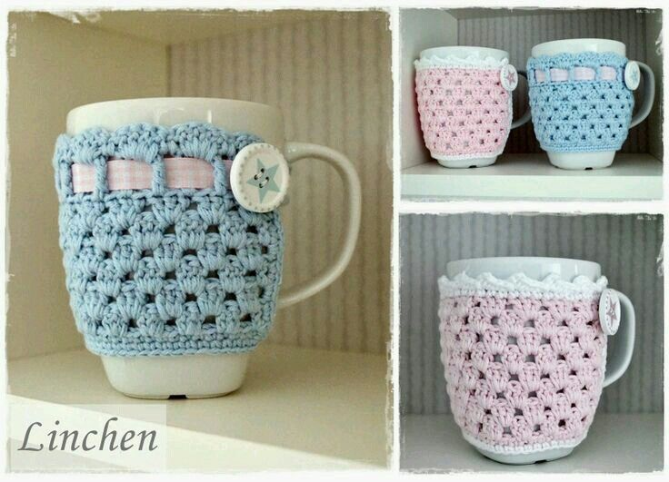 Mejores 16 imágenes de Cubre taza en Pinterest | Punto de crochet ...