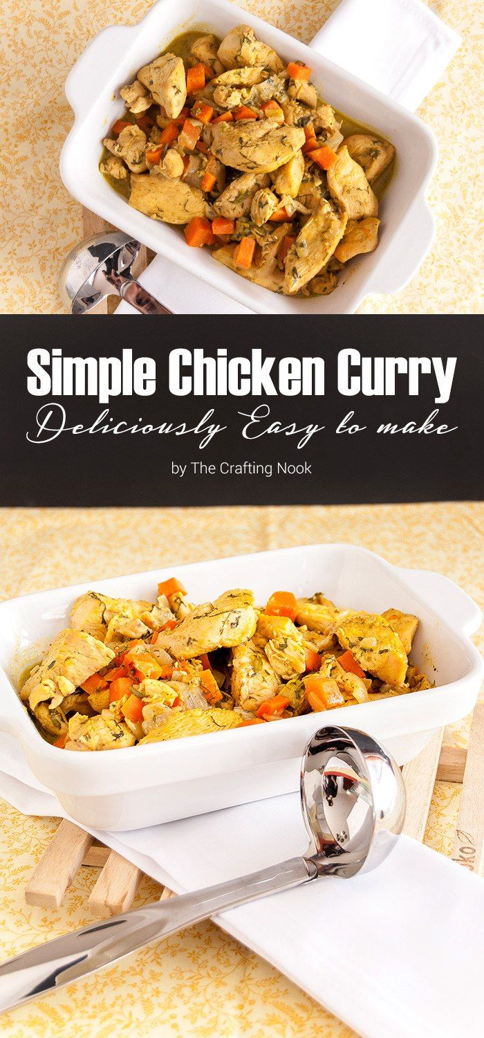 This Simple Chicken Curry is the perfect recipe option for a quick meal. Delicious, flavorful and done in less than 40 minutes!