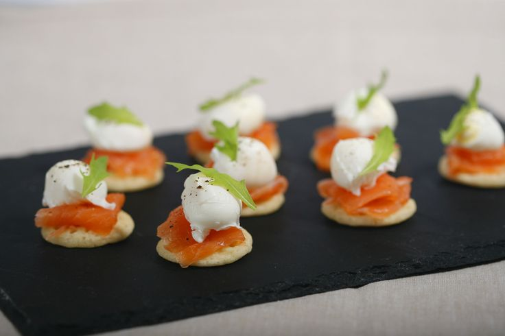 Quail's Egg Canapés with Smoked Salmon from Fine Food Specialist