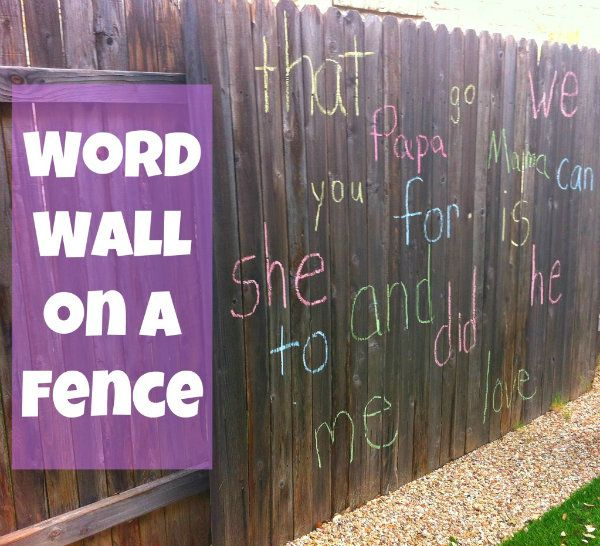 word wall fence: Concrete Wall, For Kids, Wall Fence, Chalk Boards, Kiddo Reading, Kids Pick, Chalkboards Whiteboard, Make A Chalkboards, Fence Favorite