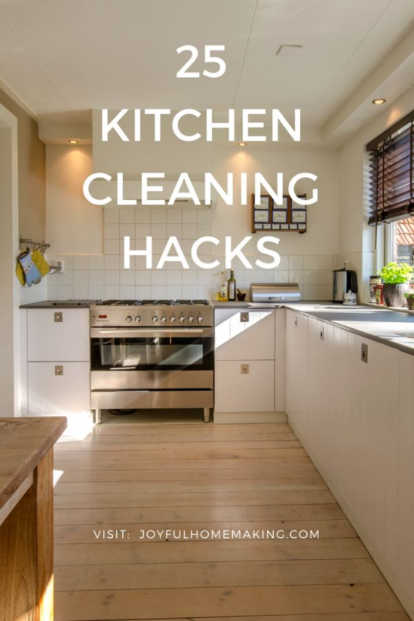 25+ Kitchen Cleaning Hacks