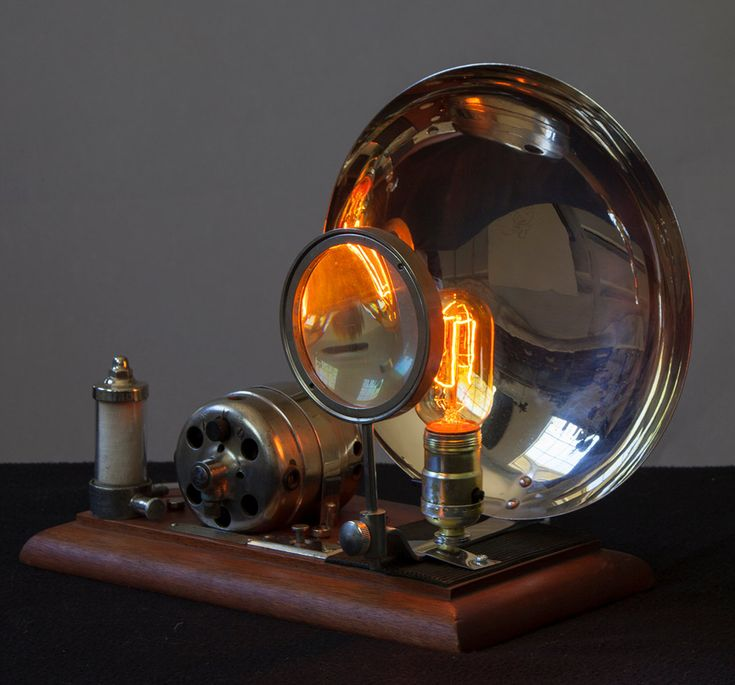 Steampunk Magnilight Desktop Light Made With Magnifying