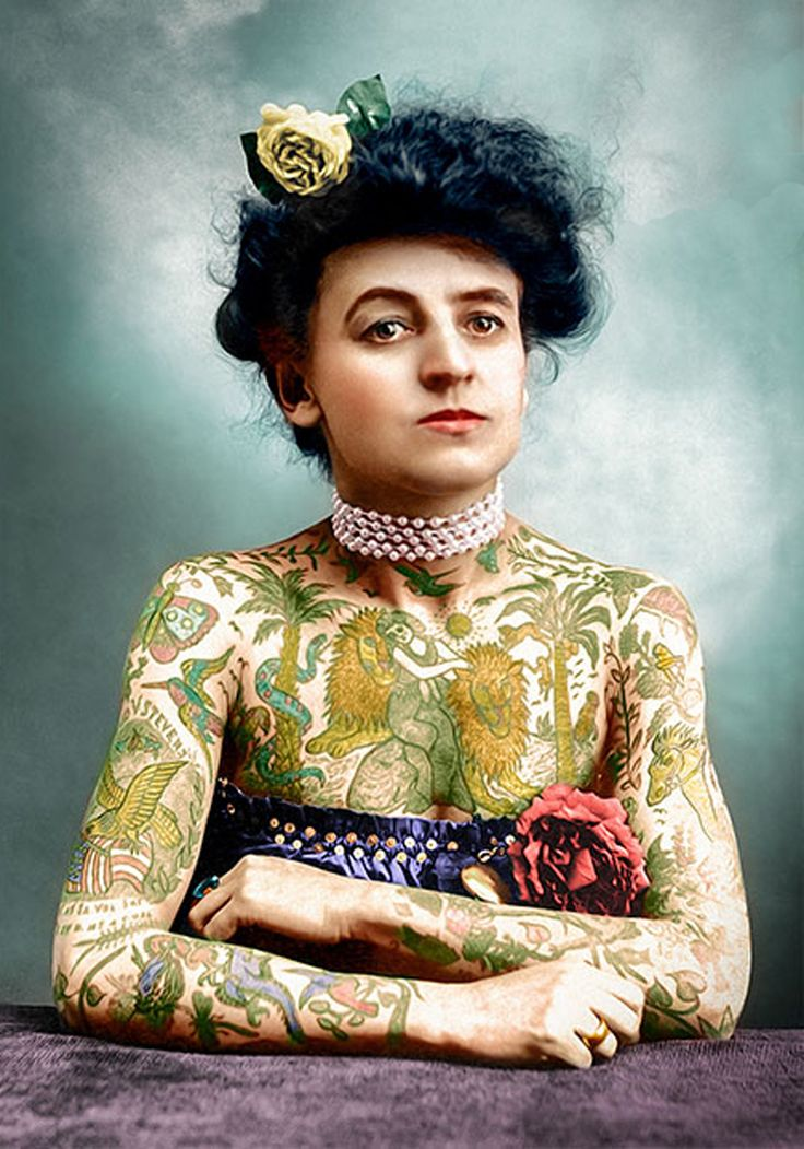 Maud wagner ca 1905 colorized by mario unger female