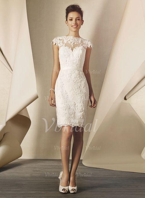 ... Saal Hochzeitsfeier Nein Frühling Sommer Elfenbein Weiß Brautkleid