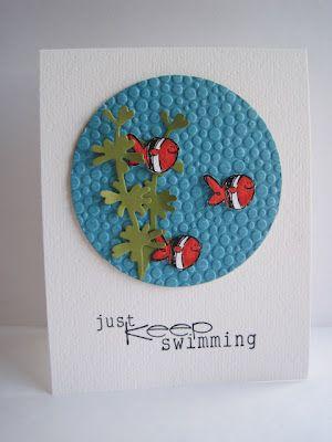 Nemo cardEmbossing Folder, Crafts Ideas, Fish Cards, Cards Ideas, Miscellaneous Cards, Cards General, Greeting Cards, Cards Inspiration, Cards Crafts