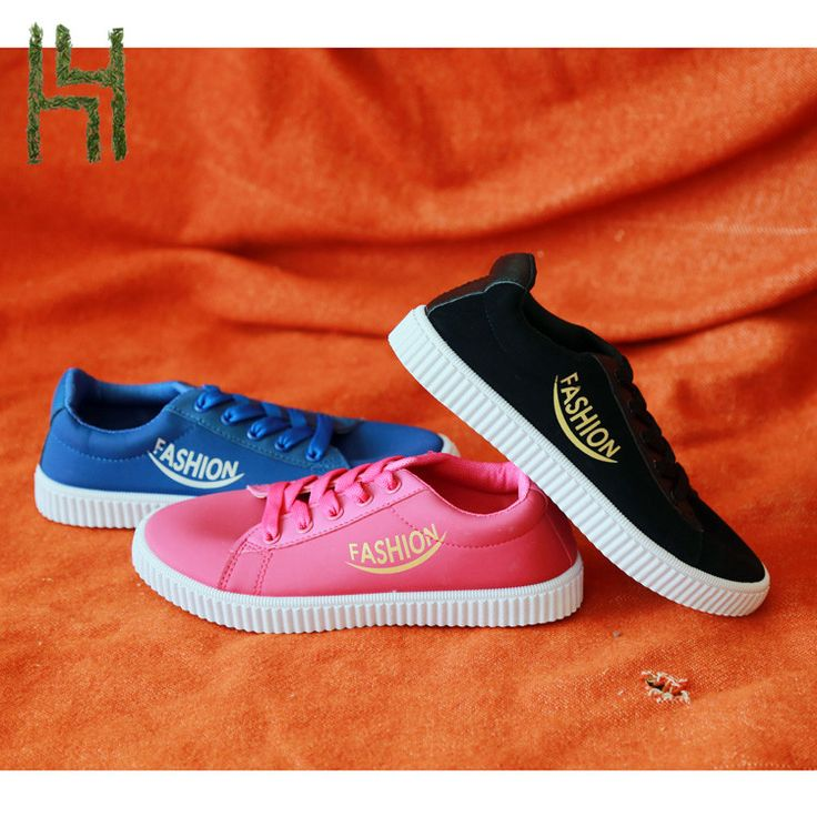 Fashion custom canvas shoes women style with PU leather