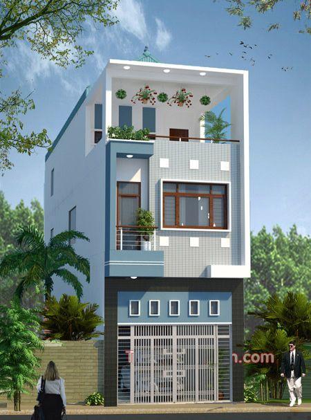 Các mẫu thiết kế nhà 2 tầng 1 tum