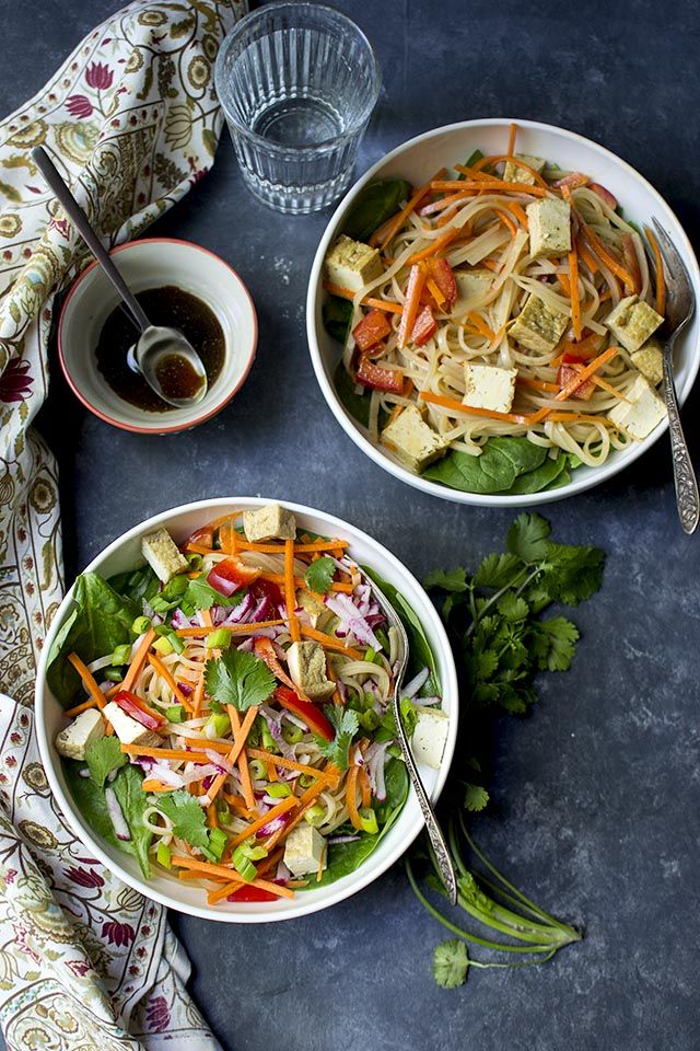 Pad Thai Noodle Salad is a colorful and delicious salad that is packed with flavor. It is perfect to bring to a picnic or potluck or even in the lunchbox.
