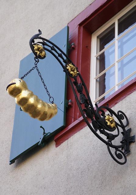Haus zum Holzwurm (house of the wood worm) antique furniture store in Basel, Klosterberg, Switzerland