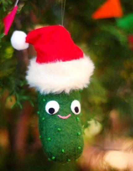 Free pattern: Christmas pickle | Needlework News | CraftGossip.com