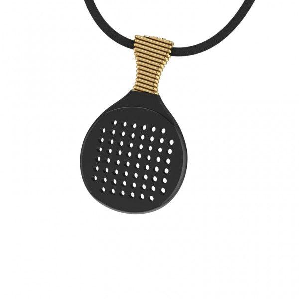 Black & Gold Racket    #jewellery #fashion #accessories #greekdesigners #jewelry #necklace #pendant #style www.gpjewellery.com