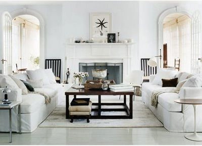 Hamptons Interiors | Hankering After Hamptons Style | Four Walls And A  Roof. White Living RoomsClassic ...
