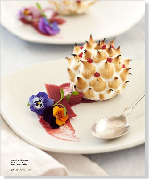 Rhubarb Bombe Alaska. Clipped from InStyle using Netpage.