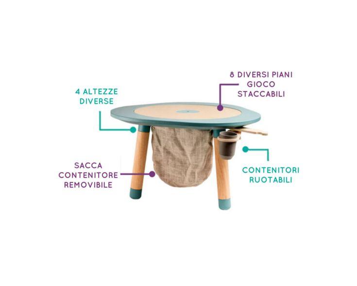 [MU]table è il tavolo multigioco tutto in uno, con 7 giochi intercambiabili per bambini da 1 a 8 anni, creato in esclusiva da Mukako.