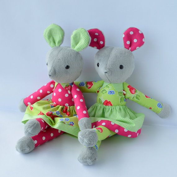 PDF sewing pattern mouse soft toy Stuffed doll от GEESPROJECTS