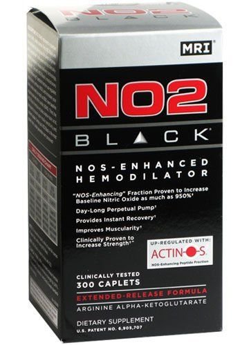 M.R.I. NO2 Black, 300-cap Bottle by M.R.I.. $51.43. NO2 Black is the first patented extended-release nitric oxide generator designed to deliver upper limit nitric oxide - all day long. It is enhanced by the patent-pending ACTINOS2- technology. ACTINOS2 was developed to increase NOS (nitric oxide synthase), the rate-limiting factor in the human body's ability to generate nitric oxide.With more NOS, NO2 Black delivers upper limit nitric oxide for massive gains i...