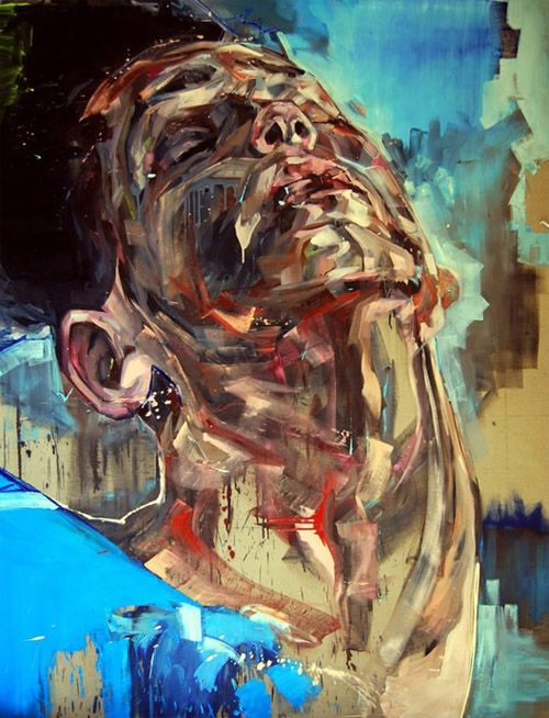 expressive, emotional, multicolored, sense of stillness, anguish, complementary -eque palette, jagged contour, mottled