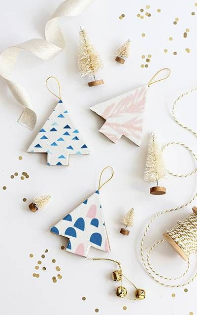 DIY Fabric-Wrapped Ornaments