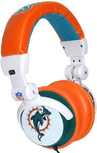iHip NFH22MID NFL Miami Dolphins DJ Style Headphones, Orange/White/Green by Zeikos. $14.99. iHip NFL DJ style headphones with Miami Dolphins logo, excellent noise reduction, in-line volume control. Headphone splitter included.. Save 63%!