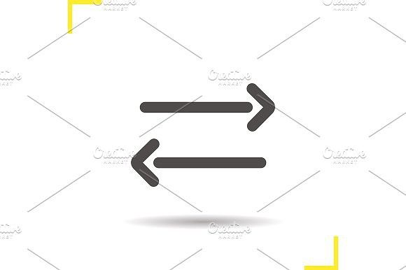 Left and right arrows icon. Vector. Icons