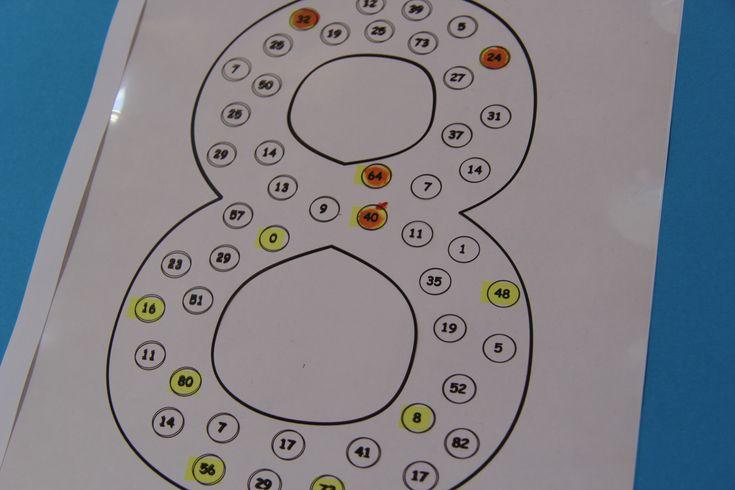 A szorzótáblához elkészítettem a számokat 2-10-ig. Beleírtam az adott szám többszöröseit, meg sok másik számot is. Feladatnak azt adtam, hogy...