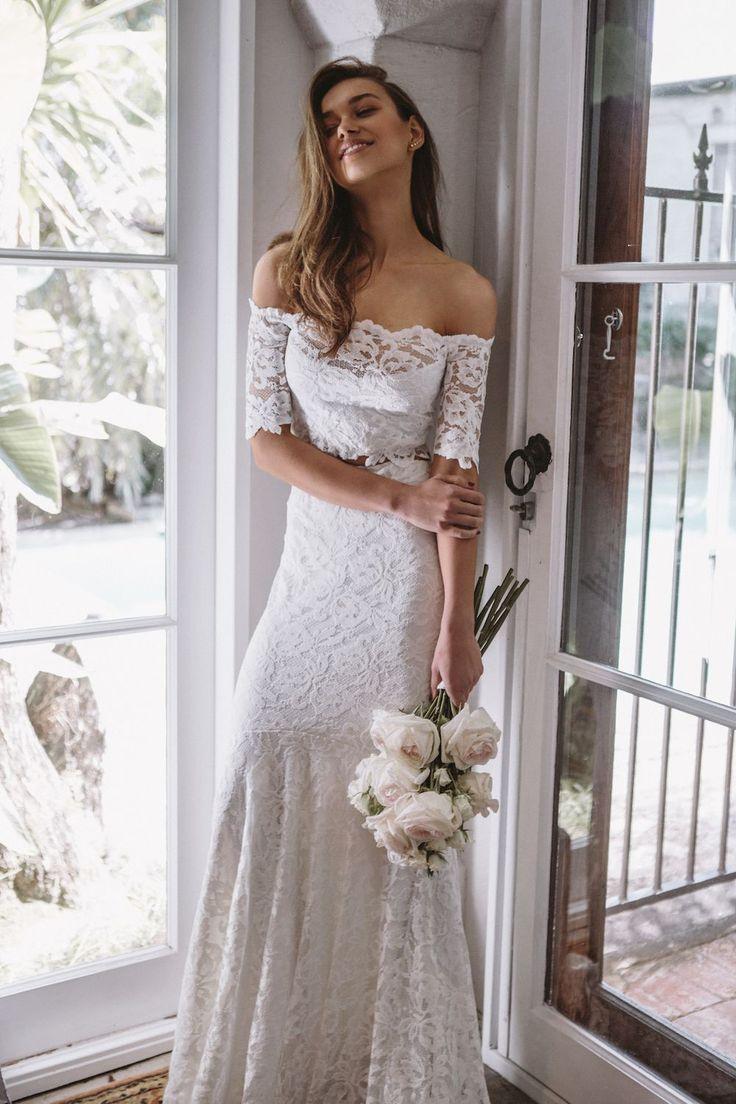 Lace wedding dress for plus size january 2019  best Wedding Dresses images on Pinterest  Brides Bridesmaid