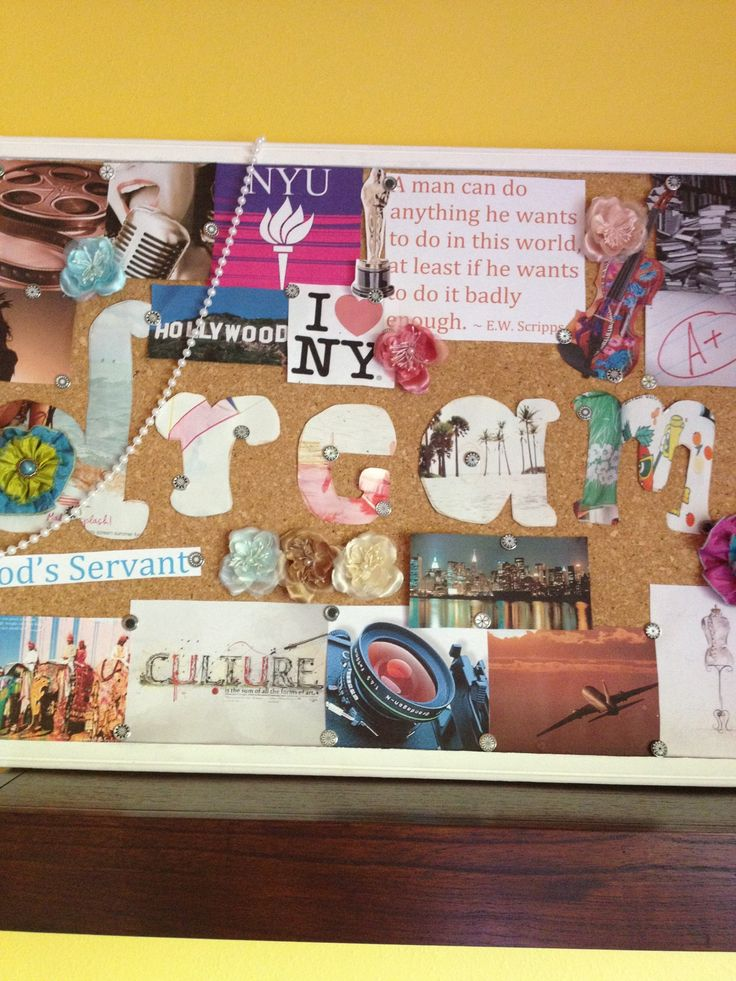 "How to Make a ""Dream Board"". Will be making one this summer"