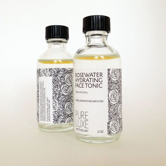 ROSEWATER HYDRATING FACE TONIC  Luxurious Lebanese rosewater, combined with aloe, witch hazel, and rose essential oil. by Pure Luxe Apothecary