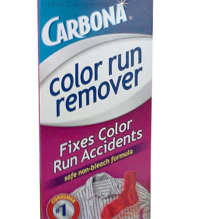 how to get rid of colour run without bleach