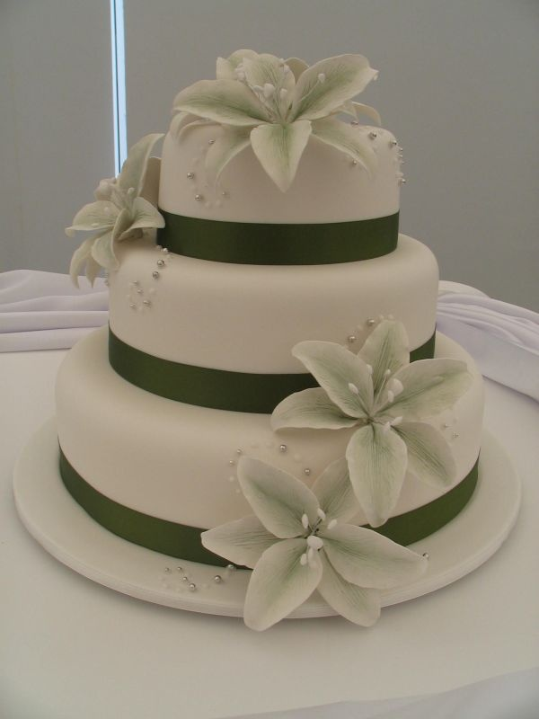 Olive Green Lilies Cake by Sweet & Simple  - love it!